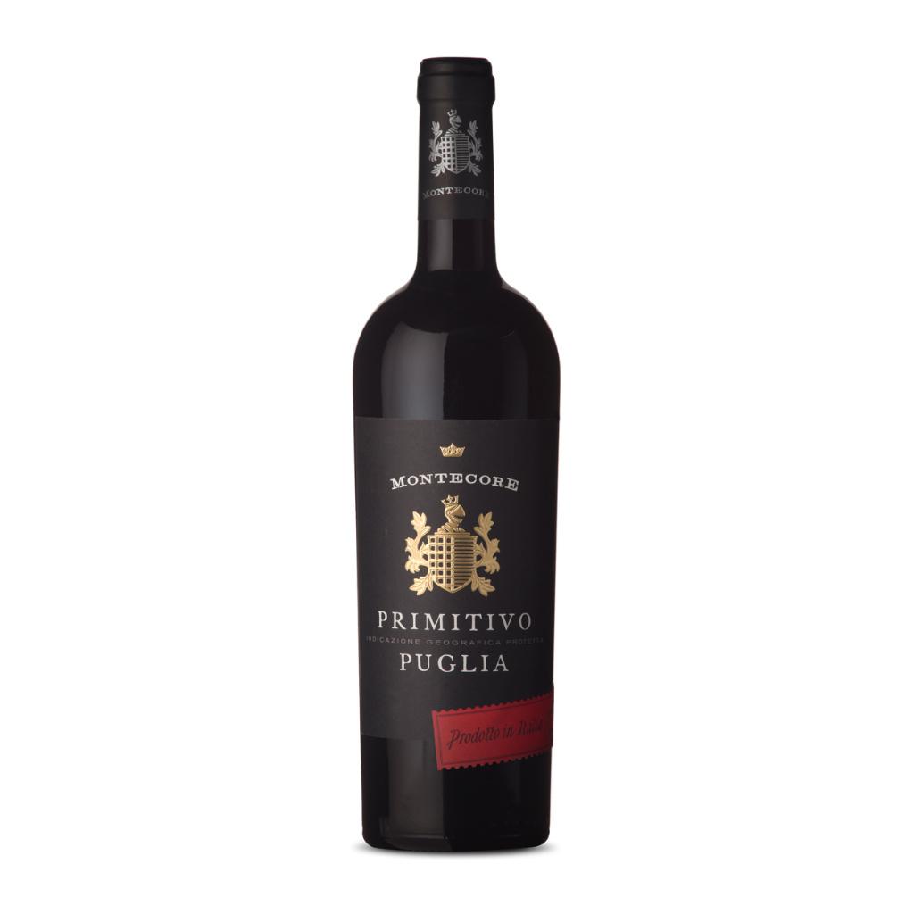 Montecore primitivo puglia - italské suché červené víno 0,75l