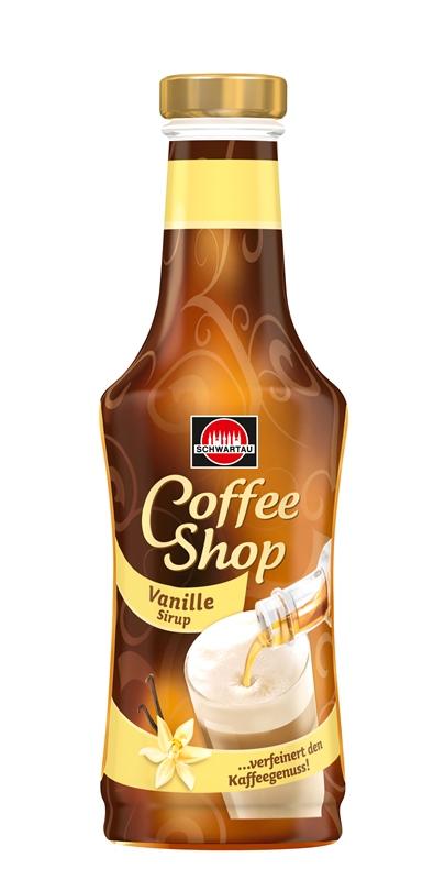 Schwartau Coffee Shop Vanilla - Vanilkový sirup do kávy 200ml